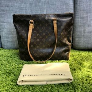 Authentic Louis Vuitton Cabas mezzo shoulder bag